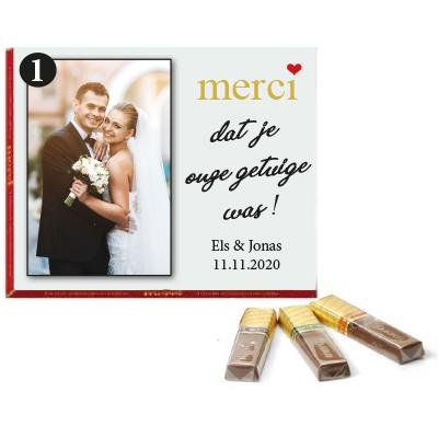 Gepersonaliseerd doosje Merci chocolade