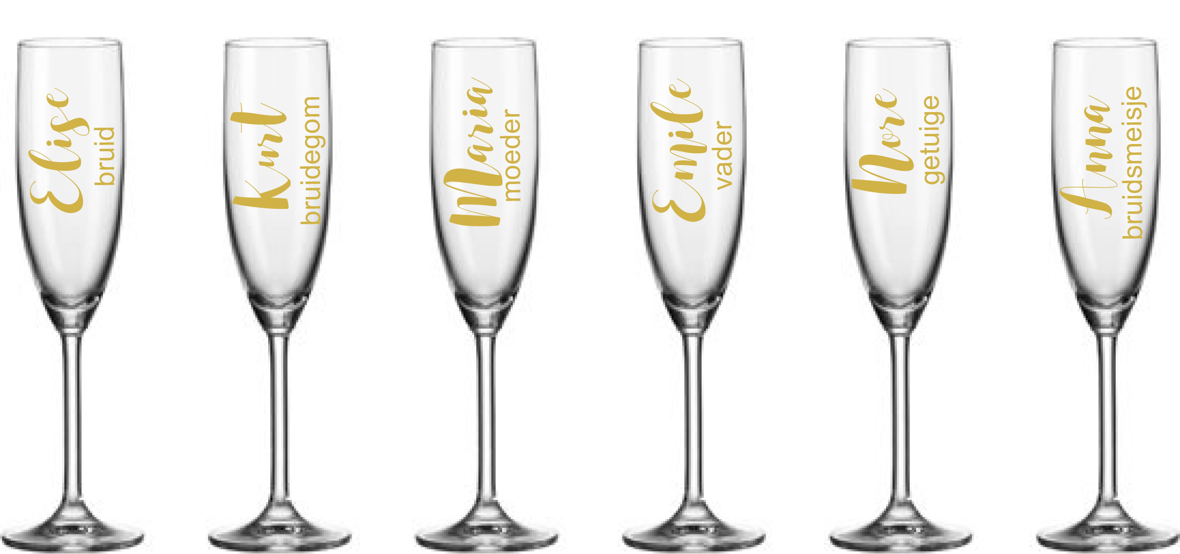 Verbazingwekkend Vinyl sticker voor gepersonaliseerd champagneglas - Hoolapola GH-41