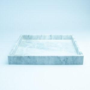 Marmeren dienblad wit vierkant