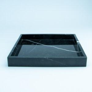 Marmeren dienblad zwart vierkant