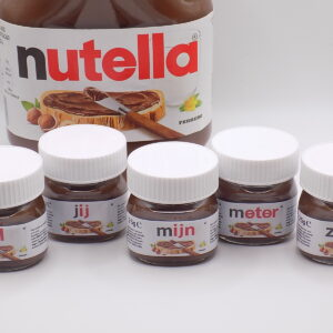 Mini Nutella® set 'Wil jij mijn meter/peter zijn?