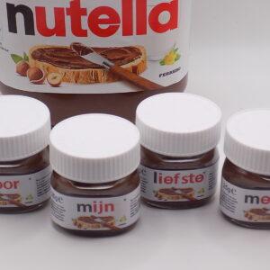 Mini Nutella® set 'Voor de liefste meter/peter'
