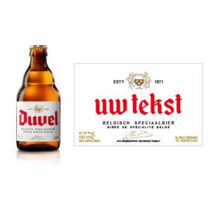 Gepersonaliseerd bieretiket Duvel 33 cl