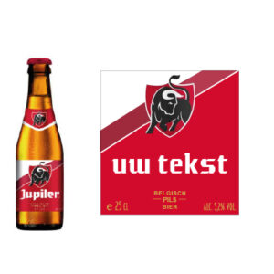 Gepersonaliseerd bieretiket Jupiler 25 cl