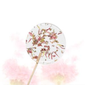 Lolly met bloemen - roze korenbloem