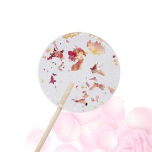 Lolly met bloemen - rozeblaadjes