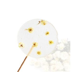 Lolly met bloemen - strobloem