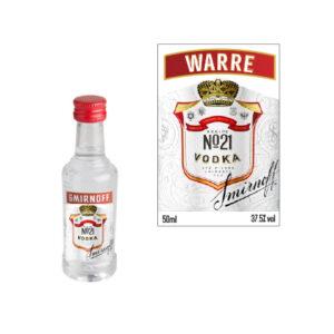 Smirnoff mini flesje met naam
